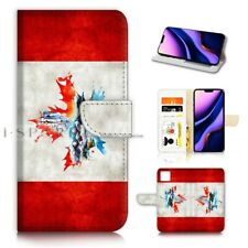 ( For iPhone 11 ) Wallet Flip Case Cover AJ40337 Canada Flag