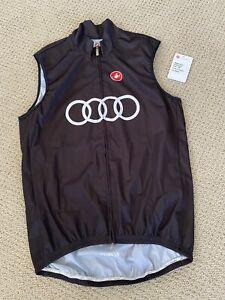 Audi Cycling Team Castelli Rosso Corsa Wind Vest Men's XL