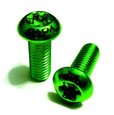 Alloy Water Bottle Cage Bolt, 2pc, M5x12mm, Green, Z17