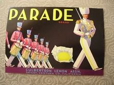 1920 Parade Majorette Marching Band Sunkist Crate Label