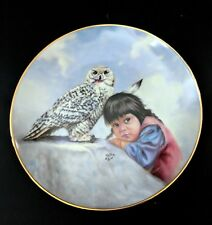"""Beautiful.""""Watchful Eyes"""" Collector's Plate by Perillo - Artaffects 1989"""