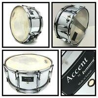 """Vintage LUDWIG 14"""" ACCENT SNARE DRUM Metal Shell Chrome Finish, Tiawan"""