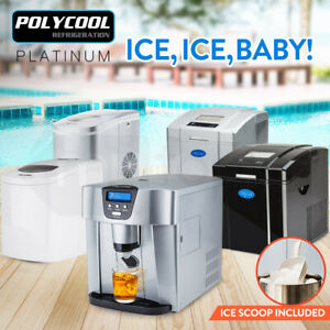 POLYCOOL Portable Ice Cube Maker Quick Easy Automatic Machine Fast Dispenser