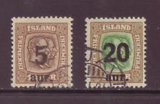 Iceland, 2 provisionals, FU, 1921 - 22