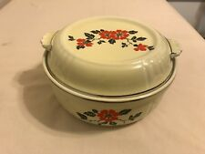 Hall China Red Poppy Vintage Baking Dish Covered Casserole w Lid