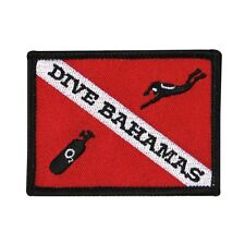 "Scuba Souvenir ""Dive Bahamas"" Patch Ocean Vacation Destination Iron-On Applique"