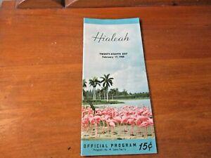 1955 HIALEAH HORSE TRACK RACE COURSE OFFICIAL PROGRAM BROCHURE + Lawton Florida