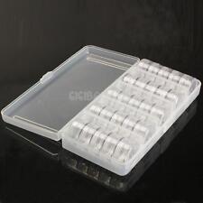#gib Empty 25 Jars Nail Art Tools Storage Box Case Tips Flexible Organiser Cells
