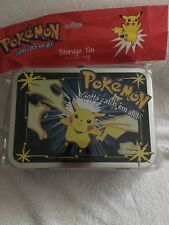 Pikachu Pokemon Metal Storage Tin from Nintendo 1998 NEW!