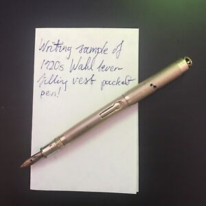 Antique Wahl Vest-Pocket Fountain Pen. 1920s. RESTORED & WORKING.