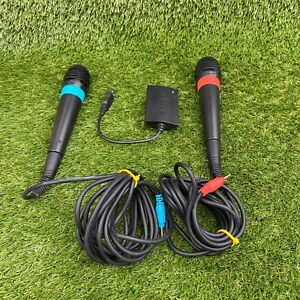 Official Singstar Wired Microphones only for PS4 PS3 PS2 Sony Playstation Good