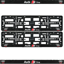 New Set of Audi S Line Number Plate Surrounds Holder Frames Q2, Q3, Q5, Q7