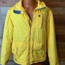 Quicksilver Mens Snow Jacket removable sleeves Yellow Large
