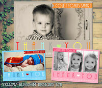 10 Multiple Photos Personalised Thank You Cards Birthday Christening Classic