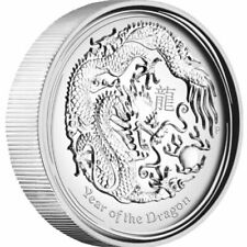 Year of the Dragon 2 oz .999 Silver 2012 - Uncirculated Bullion Coin Perth Mint