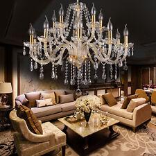Elegant Crystal Glass Chandelier Pendant Ceiling Lighting Fixture 6 Light Ts