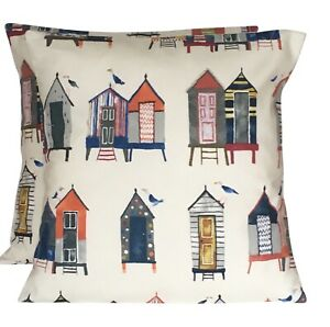 2 x Prestigious Beach Huts Antique Cushion Covers