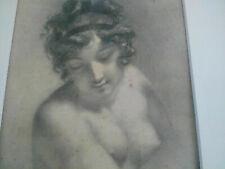 Rare Prud'hon superbe gravure 1849 lithographie Prudhon Aubry Lecomte curiosa