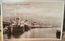 Irish Rppc Postcard Ships Steamers At Belfast Laird & Wood Northern Ireland Quay