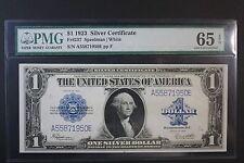 1923 $1 Silver Certificate PMG 65 EPQ GEM CU HIGH GRADE BEAUTIFUL NOTE!
