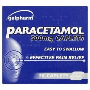16xParactml Caplets Headache ,Pain-killers,Back Pain,All Pain Reliver(2 Maximum)