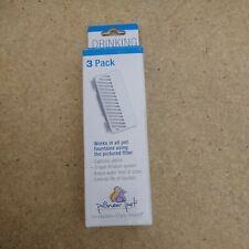 New listing Pioneer Pet T-Shaped Filter for Food, Water & Serene Fountain, 3 count