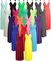 L140 New Women's Summer Stretch Spring Coil Long Jersey Maxi Dress Size 8-14
