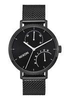 Nixon The Clutch Black Dial Black SS Mesh Quartz Men's Watch A1166-756