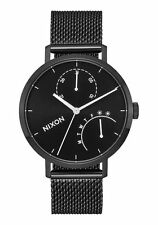 Nixon The Clutch Black Dial Black SS Mesh Quartz Men's Watch A1166-756