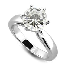 1.0 Carat GIA Certified Diamond Solitaire Engagement Ring in 14k White Gold