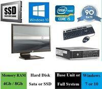Fast Cheap HP 8200 Quad Core i5 Desktop 4Gb / 8Gb RAM HDD / SSD PC WiFi Computer