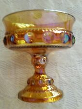 VINTAGE Indiana CARNIVAL GLASS POTTERY ART goblet candy dish bowl usa