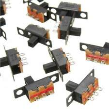 Black 0.3A 20x DIY 5V 0.3A Mini Size SPDT Slide Switch On-Off 3-Pin PCB Hi-Q