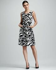 Kate Spade Jillian Zebra Print Dress Size 2 MRSP$ 438 - Summer cocktail Dress