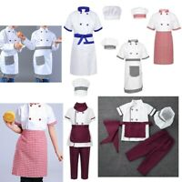 Chef Costume Kids Children Fancy Dress Chef Uniform Cosplay Party Halloween Set