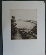 NORMAN McKELLEN etching , rural scene , signed