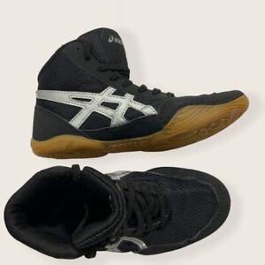Boy's Wrestling Shoes ASICS Matflex Size 1 Kids Wrestling Shoes Black/white