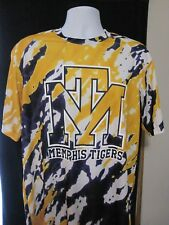 Memphis Tigers Tie-Die Polyester Gold White Purple Men's Size Large L Shirt NWT