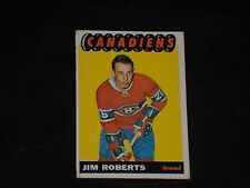JIM ROBERTS 1965-66 TOPPS HOCKEY CARD #74 ROOKIE MONTREAL CANADIENS