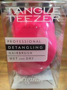 Tangle Teezer Pink Detangling Wet Or Dry Hairbrush  Original  New