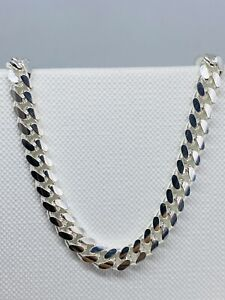 Genuine Solid 925 Sterling Silver Mens 5mm Heavyweight Cuban Chain All Length