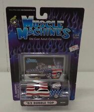 Muscle Machines '62 Chevy Bubble Top Stars Stripes 1:64 Car NIB NRFB F6