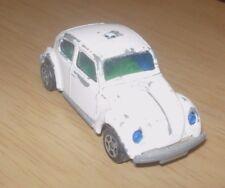 Vintage Corgi Juniors Whizzwheels Volkswagen VW 1300 Beetle Bug Police Car White