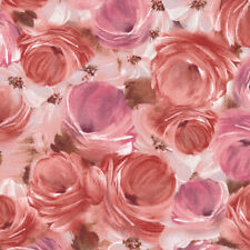 TULLE & PETALS Blush Roses by Fabri-Quilt 100% cotton fabric by the yard