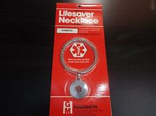 Medical ID Stainless Steel Necklace For Diabetics Diabetic Diabetes Supplies