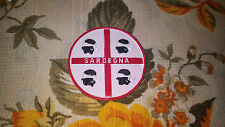 Calamita Piattino Bianco Rosso Sardegna 4 mori Souvenir Collezionismo