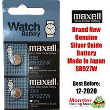 2 PCS SR927W 399 1.55V SILVER OXIDE BATTERY MADE IN JAPAN FOR WATCH NEW