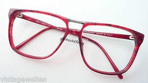 Herrengestell Brillenfassung Brille rot oldschool Doppelsteg große Gläser Gr: M