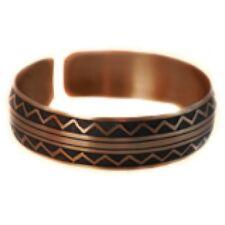 Pure 100% Copper Bracelet Bioactive Bangle Vintage Style Bronze Pythagoras