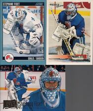 GOALIES Stephane Fiset 3 Card Lot Fleer Ultra Pacific and Score